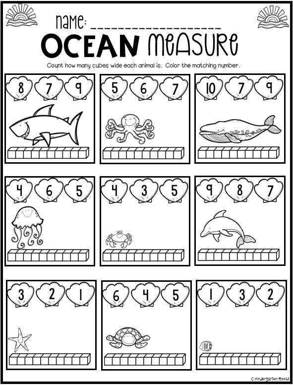 Kindergarten Ocean Worksheets Ocean Math and Literacy Worksheets for Preschool is A No
