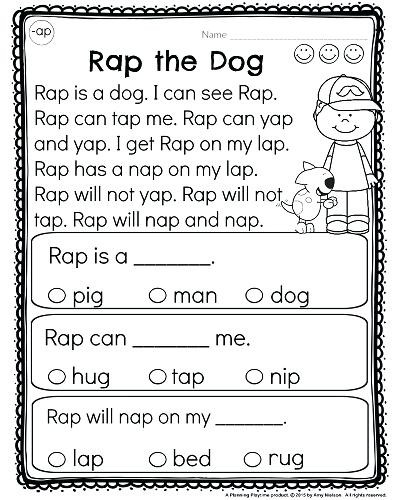 Kindergarten Reading Comprehension Worksheets Pdf Kindergarten Reading Prehension Worksheets Free Printable