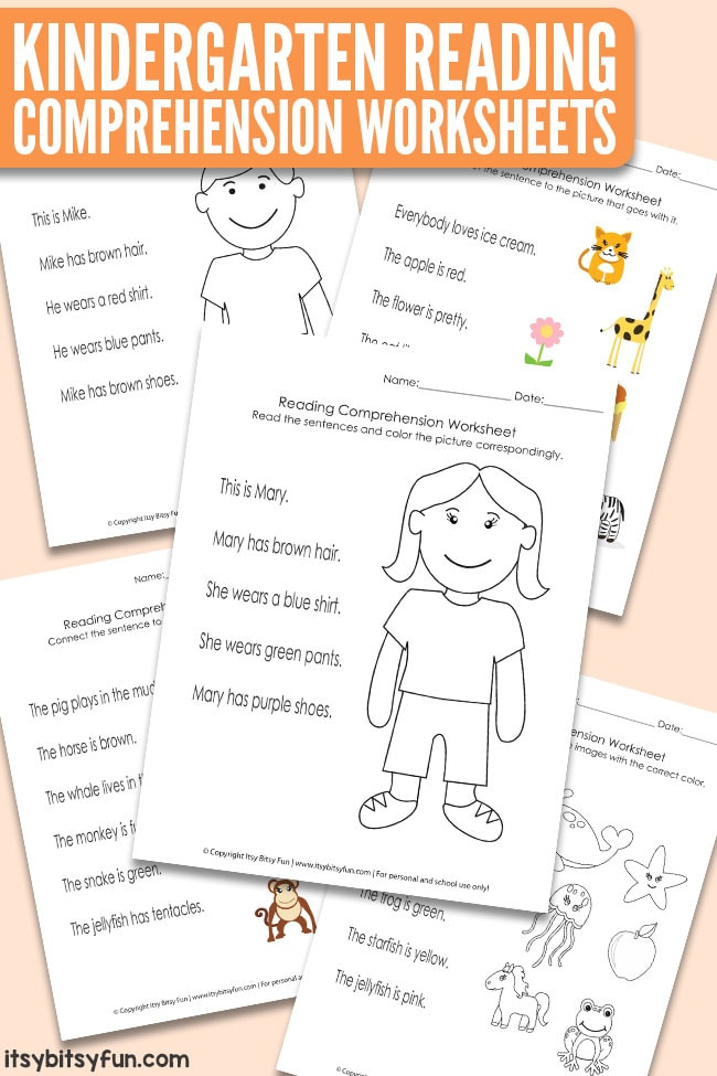 Kindergarten Reading Comprehension Worksheets Pdf Kindergarten Reading Prehension Worksheets Itsybitsyfun