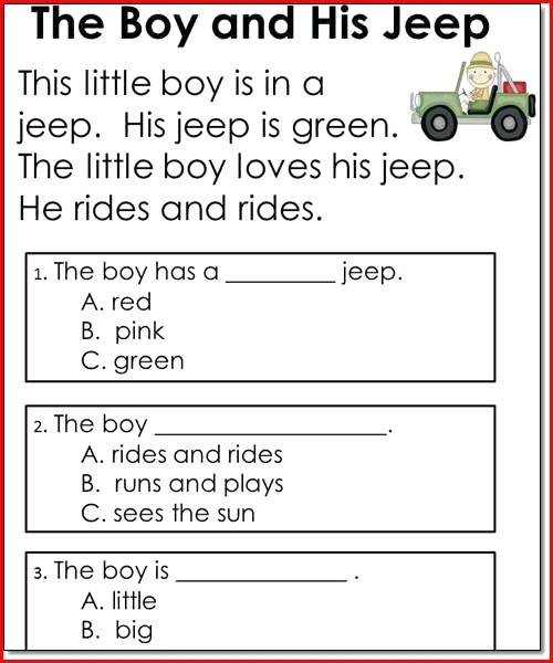 Kindergarten Reading Comprehension Worksheets Pdf Literacy Worksheets for Kindergarten Pre Kindergarten