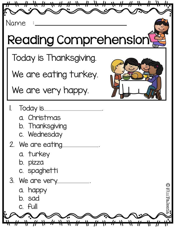 Kindergarten Reading Comprehension Worksheets Pdf November Reading Prehension is Suitable for Kindergarten