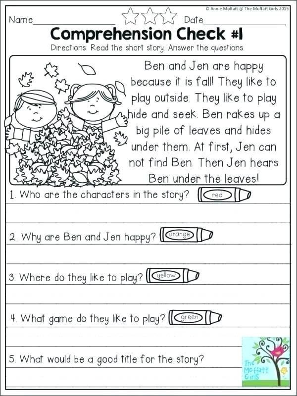 Kindergarten Reading Comprehension Worksheets Pdf Pin On Teach It