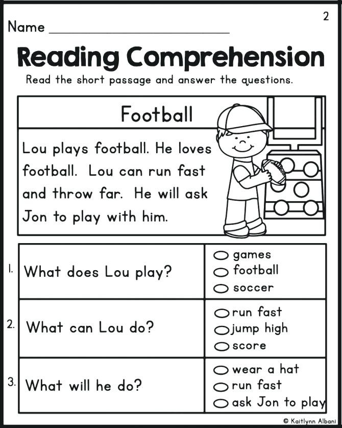 Kindergarten Reading Comprehension Worksheets Pdf Reading Prehension Kindergarten Math – Beatricehewub