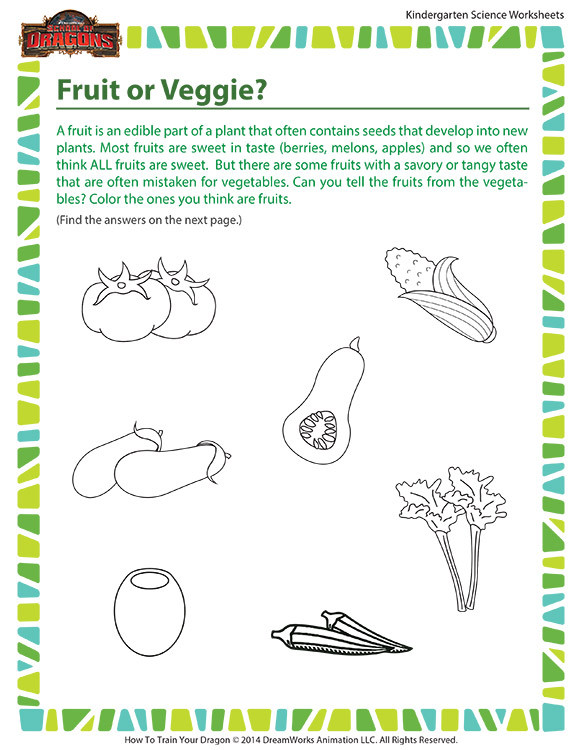 Kindergarten Science Worksheets Fruit or Veggie Worksheet – Life Science for Kindergarten – sod