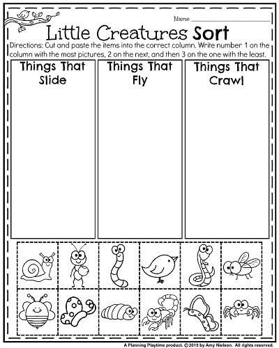 Kindergarten Science Worksheets Kindergarten Worksheets for May