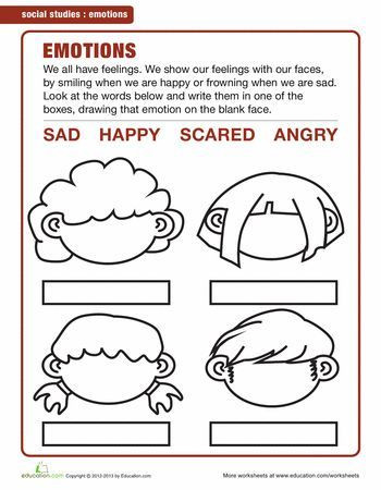 Kindergarten social Studies Worksheets Pdf Image Result for Emotions Worksheets for Kindergarten Pdf