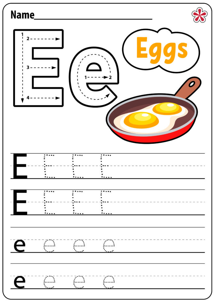 Kitchen Math Worksheets Letter Worksheets for Kindergarten and Preschool Teachersmag