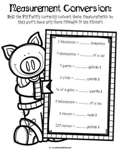 Kitchen Math Worksheets Math and Cooking Fun
