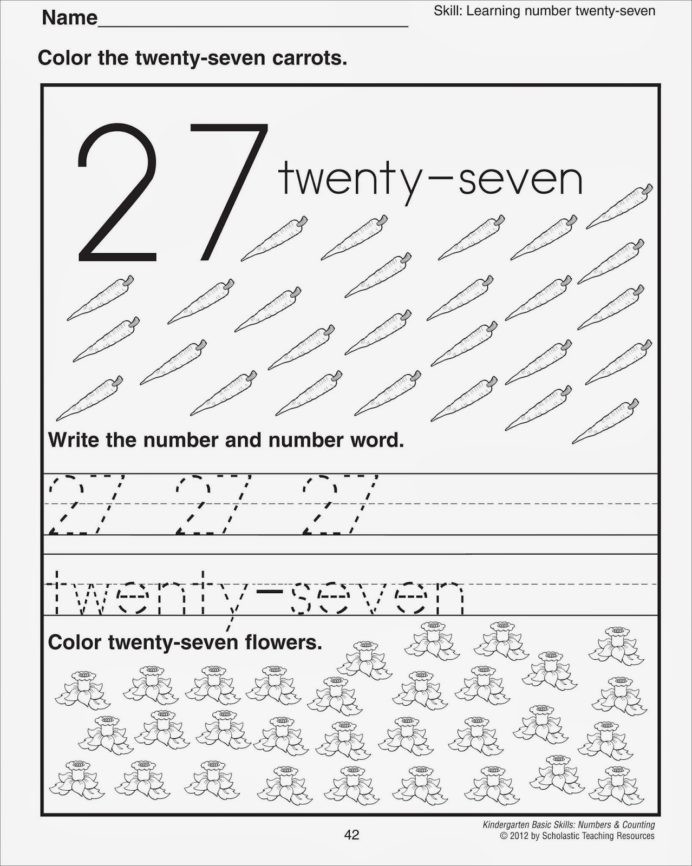 Kumon Printable Worksheets Free Number Worksheets Preschool Printable and Tk