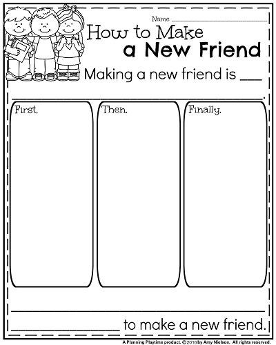 Making Friends Worksheets Kindergarten Back to School Kindergarten Worksheets
