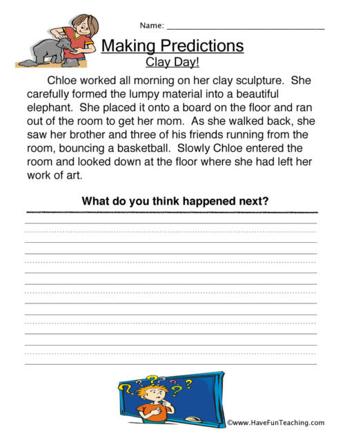 Making Predictions Worksheets 3rd Grade Predictions Worksheets • Have Fun Teaching