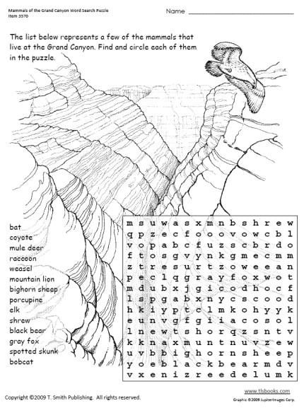 Mammals Worksheets for 2nd Grade Animal Word Search Mammals Worksheets