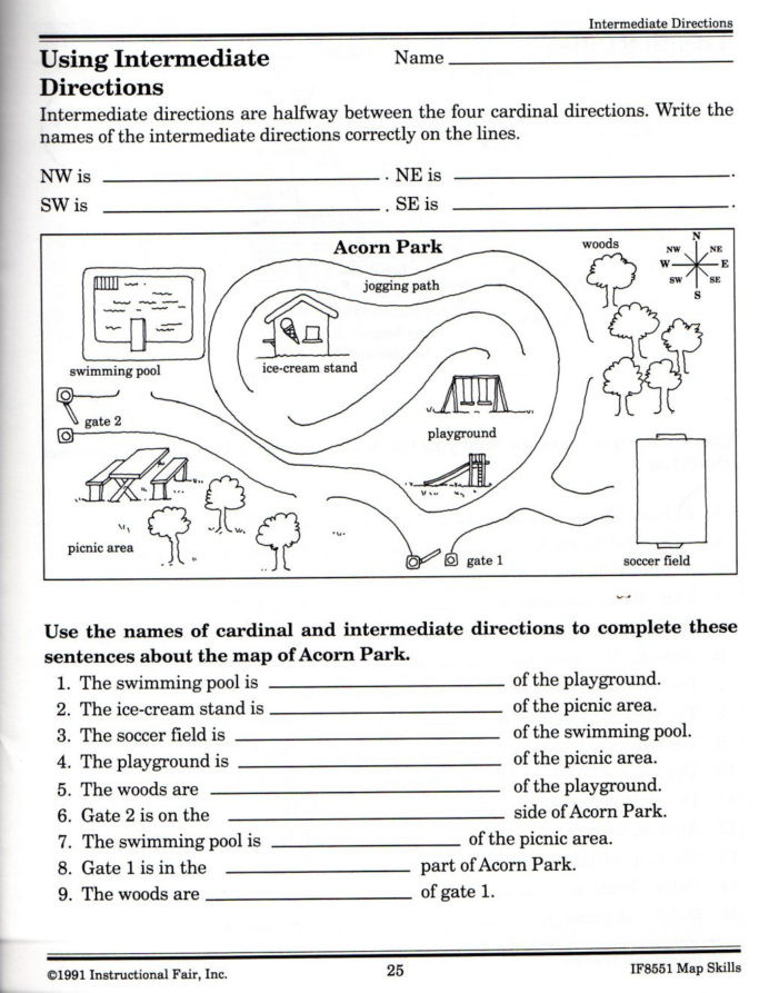 Map Skills Worksheet 2nd Grade Map Skills Worksheets for Print Science Free touch Worksheet