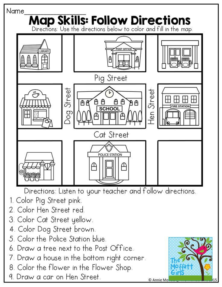 Map Worksheets for First Grade April No Prep Packet Kindergarten