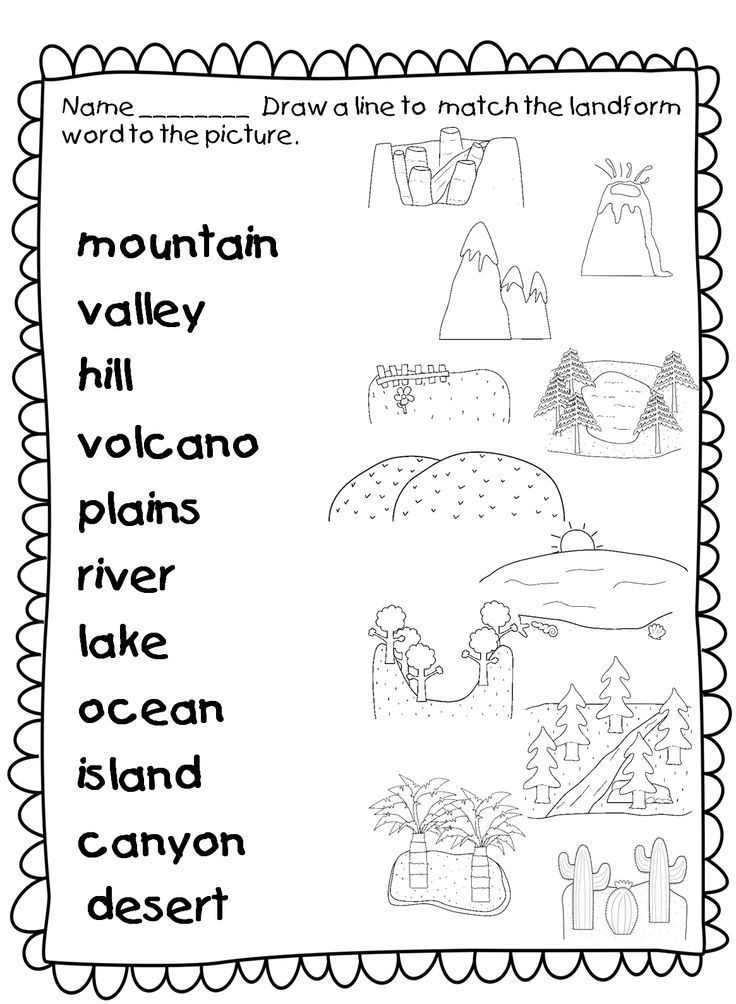 Map Worksheets for First Grade Laaaaaaaand Hooooooo