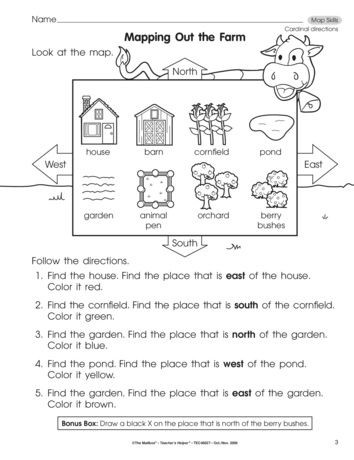 Map Worksheets for First Grade Mapping Out the Farm Lesson Plans the Mailbox