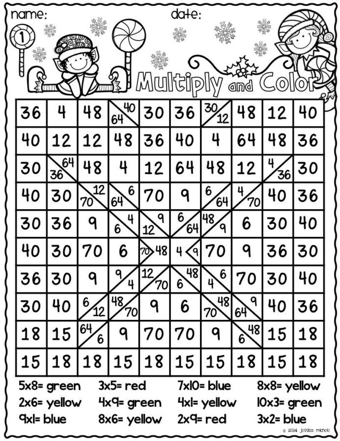 Math Hidden Picture Worksheets Here is Fun Way to Practice Multiplication Facts while Also