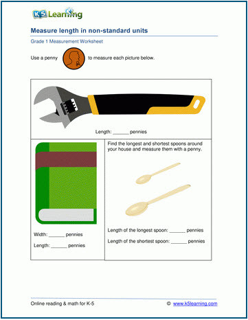 Measurement Worksheets Grade 3 K5 Learning Adds Grades 1 2 and 3 Measurement Worksheets