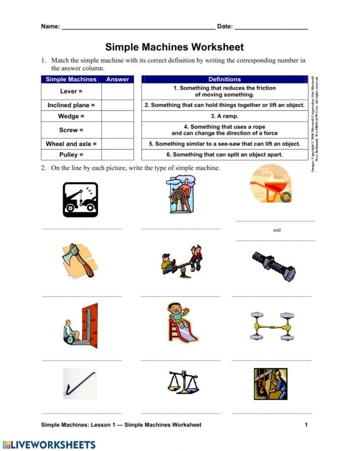 Measurement Worksheets Grade 3 Simple Machines Interactive Worksheet Worksheets Grade