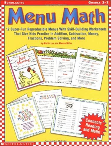 Menu Math Worksheets Menu Math Super Fun Reproducible Menus with Skill Building