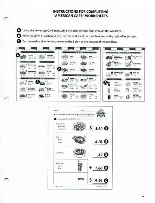 Menu Math Worksheets Pin On Free Printable Math Worksheets