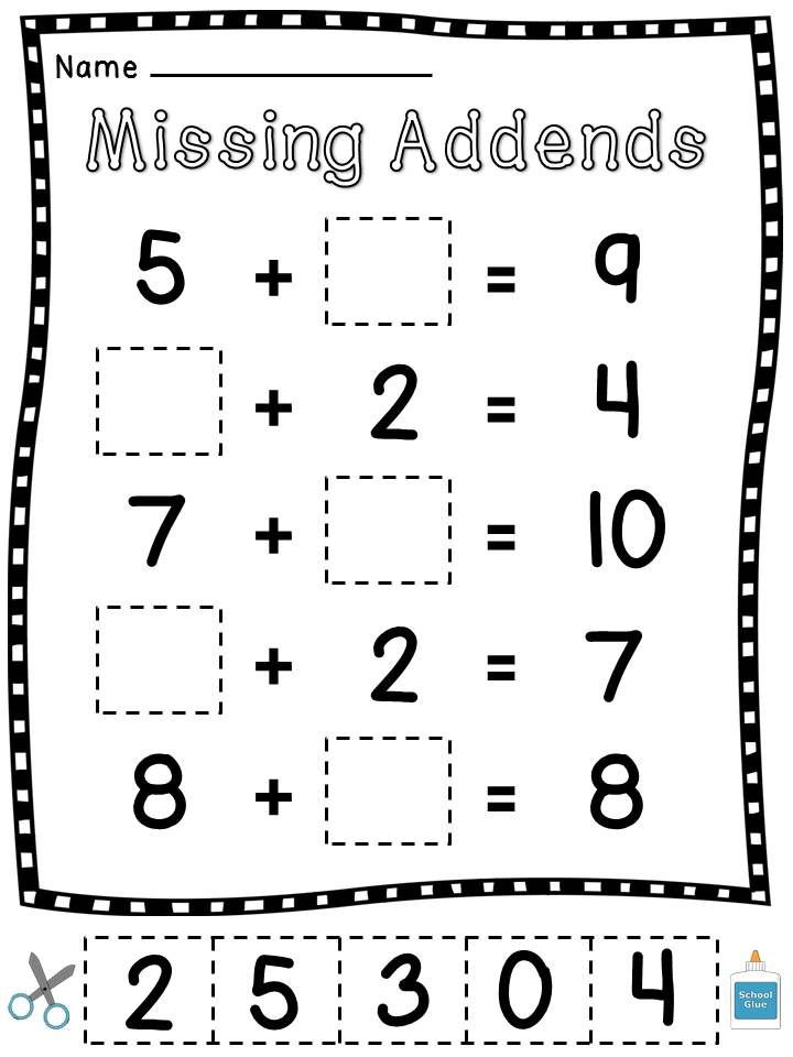 Missing Addends Worksheets First Grade Pin On Homeschooling