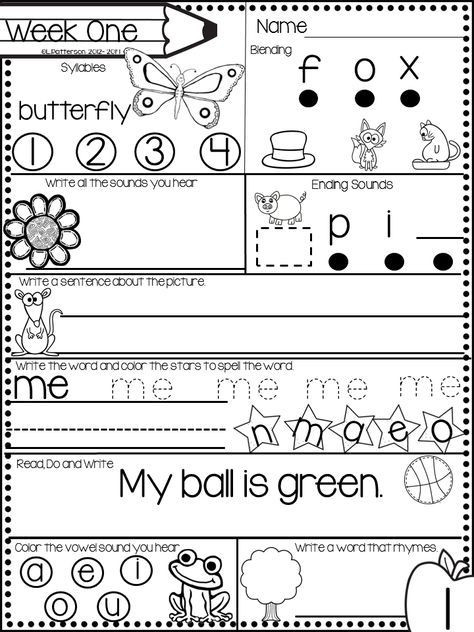 Morning Worksheets for Kindergarten December Morning Bright Kindergarten Literacy Morning Work