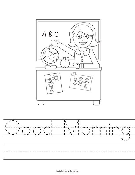 Morning Worksheets for Kindergarten Good Morning Worksheet Twisty Noodle