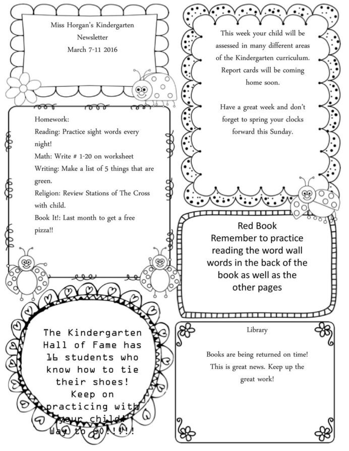 Morning Worksheets for Kindergarten Miss Kindergarten Newsletter Morning Work 6th Grade Math
