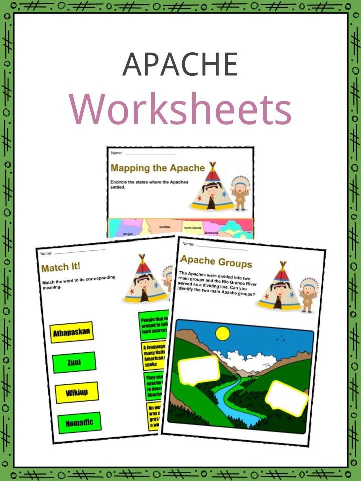 Native American Math Worksheets Apache Tribe Facts Worksheets Clothes Rituals & Religion