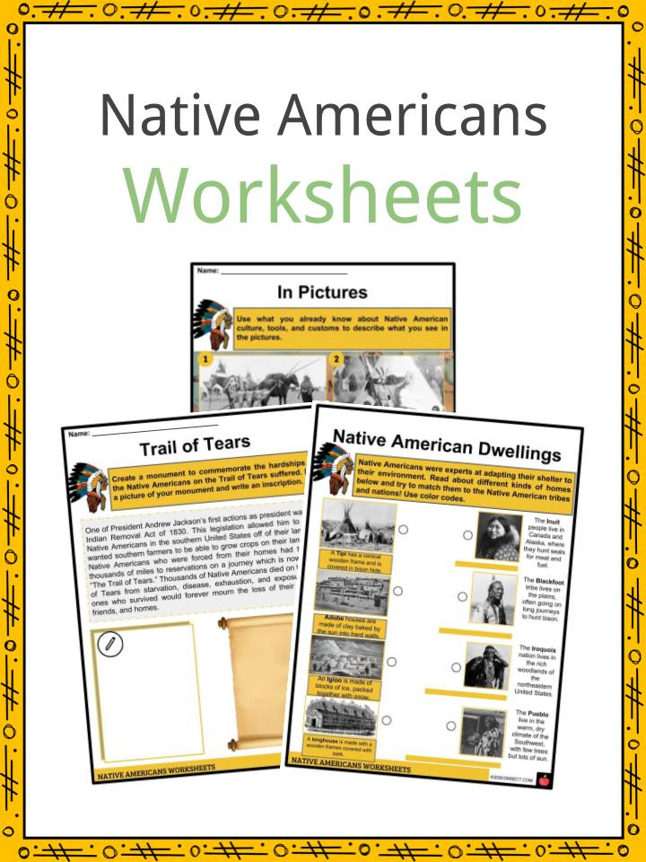 Native American Math Worksheets Native American History Facts Worksheets Way Life