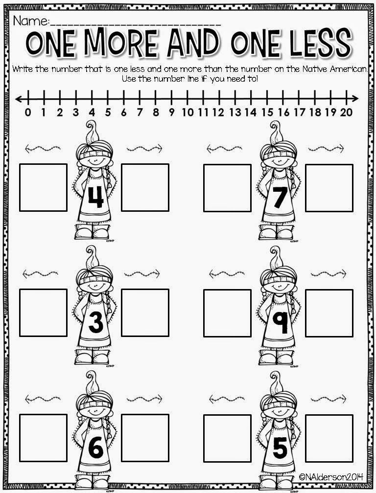 Native American Math Worksheets November Ady