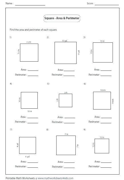 Perimeter Worksheets 3rd Grade Perimeter Worksheet for 3rd Grade Worksheets Rectilinear