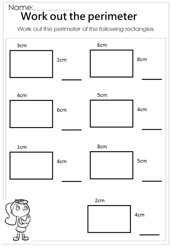 Perimeter Worksheets 3rd Grade Perimeter Worksheets Math Year 4 Maths Perimeter Worksheet