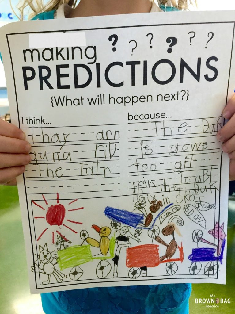 Prediction Worksheets for 2nd Grade Making Predictions 1st Grade Read Aloud the Brown Bag Teacher