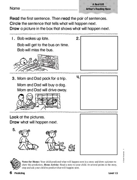 Prediction Worksheets for 2nd Grade Predicting Worksheet for 1st 2nd Grade