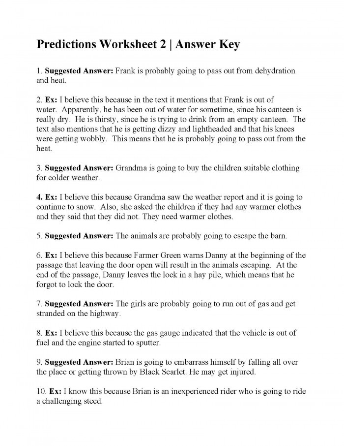 Prediction Worksheets for 3rd Grade Making Predictions with Text Evidence Worksheets