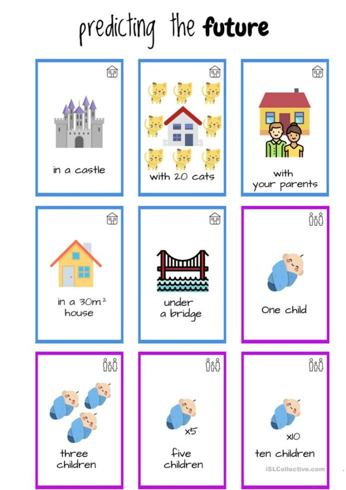 Prediction Worksheets for 3rd Grade Predict the Future Game English Esl Worksheets for Distance