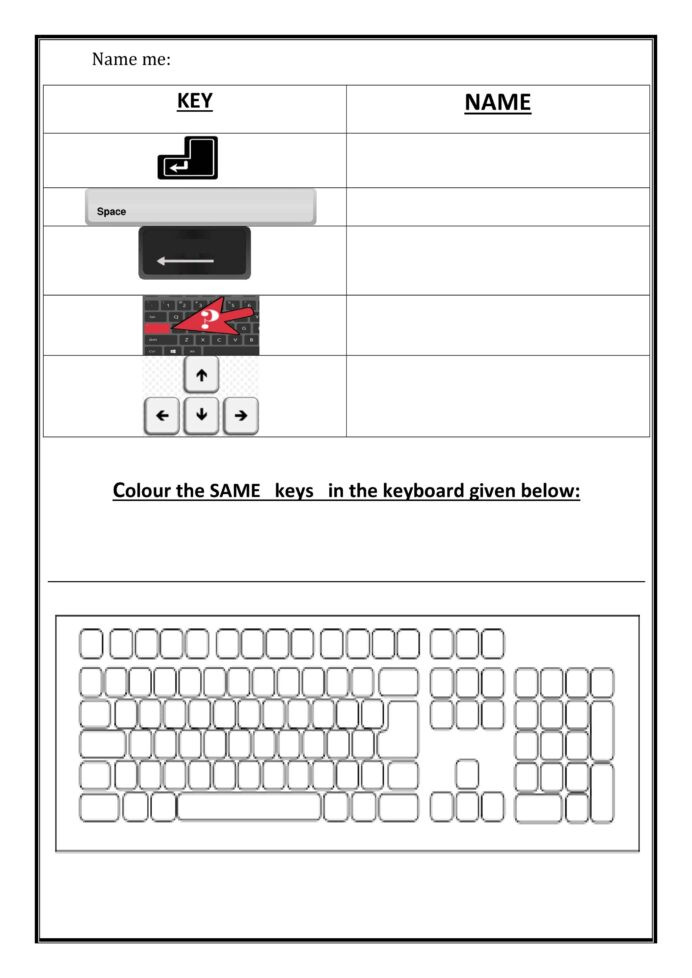 Printable Keyboarding Worksheets Worksheet for Notes Numeric Keypad Practice Worksheets