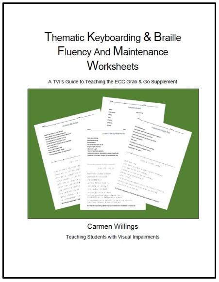 Printable Typing Worksheets thematic Keyboarding & Braille Fluency and Maintenance Worksheets