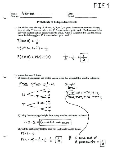 Probability Worksheets 7th Grade Pdf Probability Worksheets Answers – Dailycrazynews