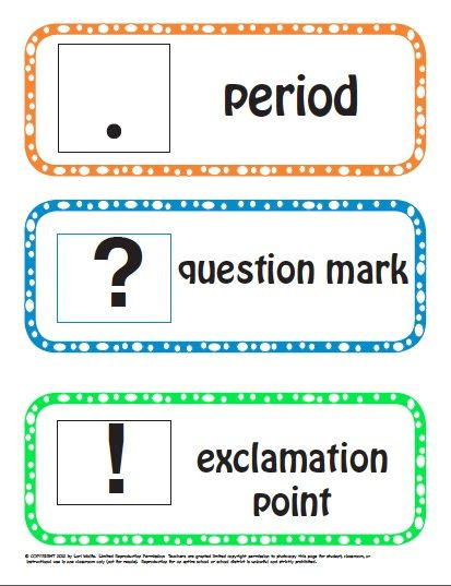 Punctuation Worksheets for Kindergarten Kinder & 1st Grade Punctuation