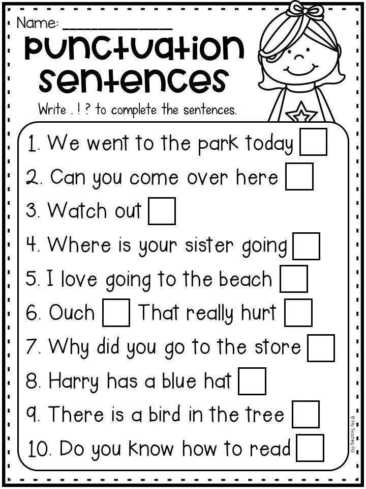 Punctuation Worksheets for Kindergarten Punctuation Worksheet with Periods Question Marks and