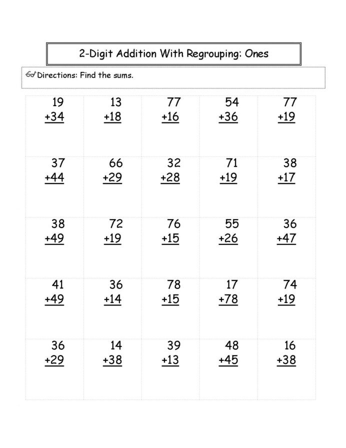 Quotation Worksheets 4th Grade Math Problems for Elementary Students 2nd Grade Addition