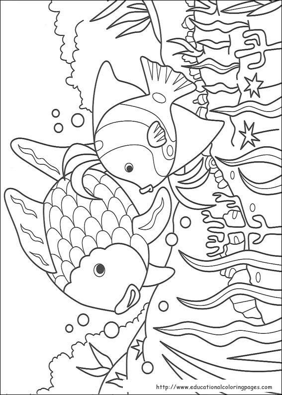 Rainbow Fish Printable Worksheets Rainbow Fish Coloring Pages Free for Kids