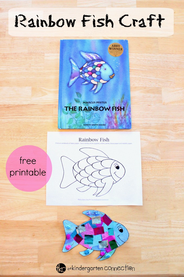 Rainbow Fish Printable Worksheets Rainbow Fish Craft the Kindergarten Connection