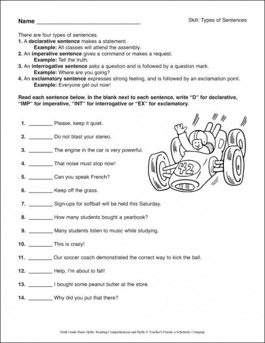 Reading Comprehension Worksheets 6th Grade 6th Grade Basic Skills Reading Prehension and Skills
