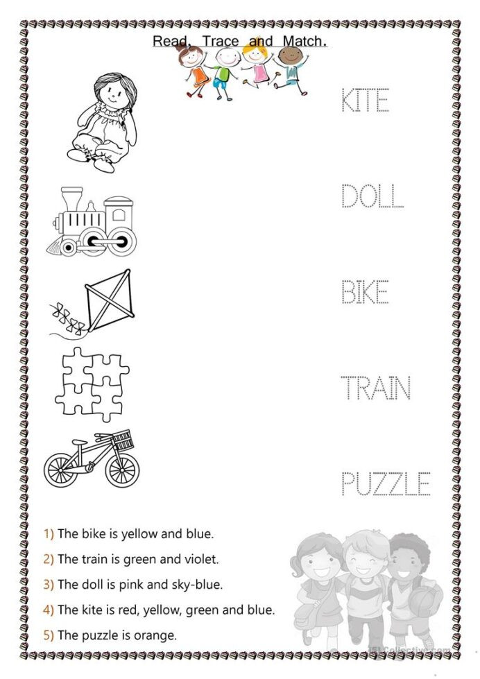 Reasoning Worksheets for Grade 1 toys Kids English Esl Worksheets for Distance Learning and