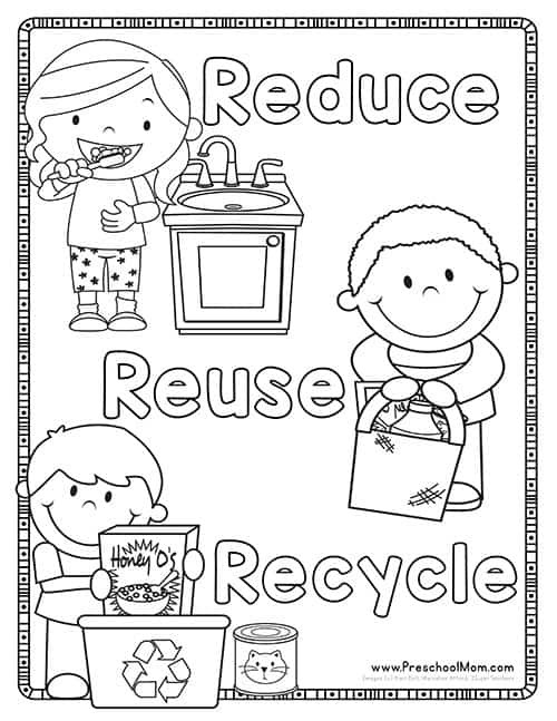 Recycle Worksheets for Kindergarten Earth Day Preschool Printables Preschool Mom