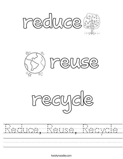 Recycle Worksheets for Kindergarten Recycle Worksheet Worksheet